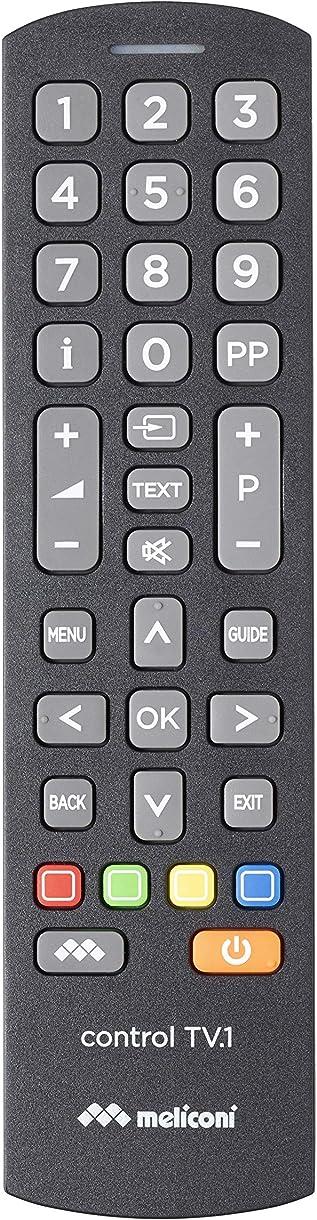 Telecomando universale, per tv standard e per smart tv - meliconi control tv.1 808034