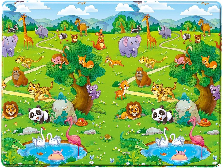 Unbekannt Spielteppich 180x120 cm beidseitig Bedruckt abwaschbar • Kinder Krabbelmatte Spieldecke Spielmatte Baby Spielzeug Matte B07B2G9G7F  Online-Verkauf | Zuverlässiger Ruf