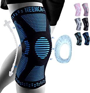 Sponsored Ad - NEENCA Professional Knee Brace,Knee Compression Sleeve Support for Men Women with Patella Gel Pads & Side S...