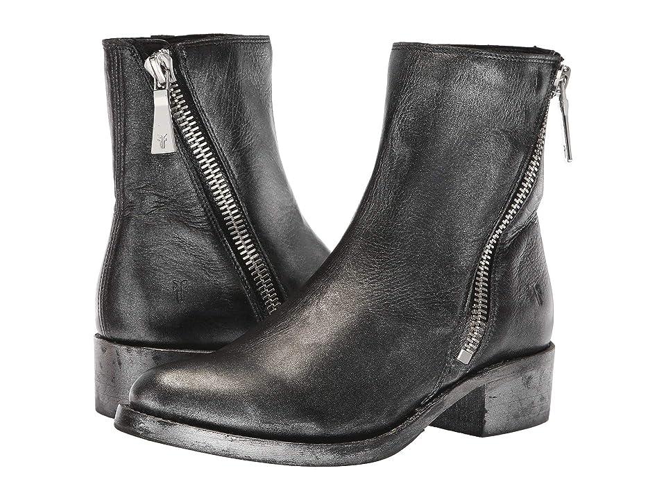 Frye Demi Zip Bootie (Black Multi Painted Metallic Full Grain) Women