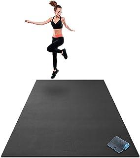 "Premium Extra Large Exercise Mat – 7' x 5' x 1/4"" Ultra Durable,.."