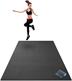 Premium Extra Large Exercise Mat - 7' x 5' x 1/4 Ultra Durable, Non-Slip, Workout Mats for Home Gym Flooring - Jump, Cardio, MMA Mat - Use with or Without Shoes (84 Long x 60 Wide x 6mm Thick)