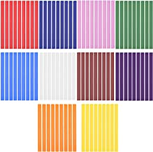LAITER 100 stuks 7 mm smeltlijmpistool glitter lijmpistool kleurrijke hete lijm lijmsticks glitter lijmpistool voor lijmpi...