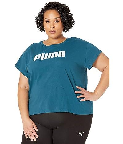 PUMA Plus Size Active Logo Tee (Digi/Blue) Women