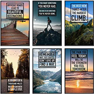 KARTMEN Inspirational Wall Art, Motivational Posters, Wall Art for Office, Motivational Posters For Office, Inspirational ...