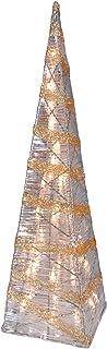 Naeve Leuchten 345545 Pyramide de lumière style sapin de Noël Doré/transparent