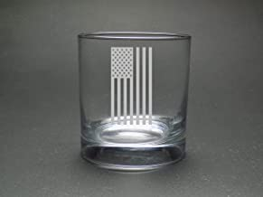 American Flag Rock Glass