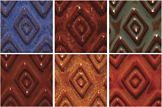 AMACO Artist's Choice Lead Free Glaze Set 2, Assorted Colors, Set of 6 Pints