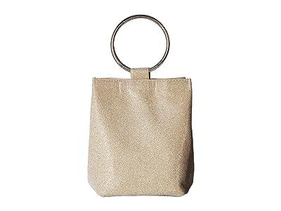 Jessica McClintock Gwen Clutch (Champagne) Clutch Handbags