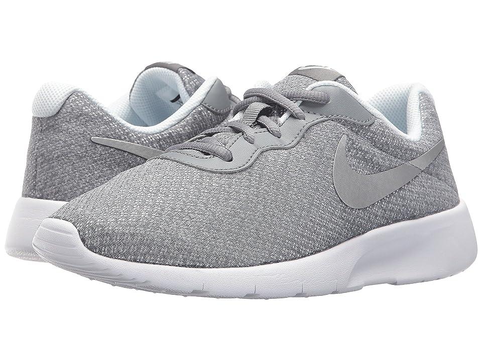 Nike Kids Tanjun (Big Kid) (Cool Grey/Metallic Silver/Blue Tint) Girls Shoes
