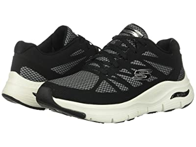 SKECHERS Arch Fit (Black/White) Women