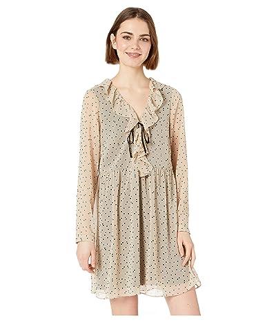 kensie Odd Dot Dress KS3K8347 (Cashew Combo) Women