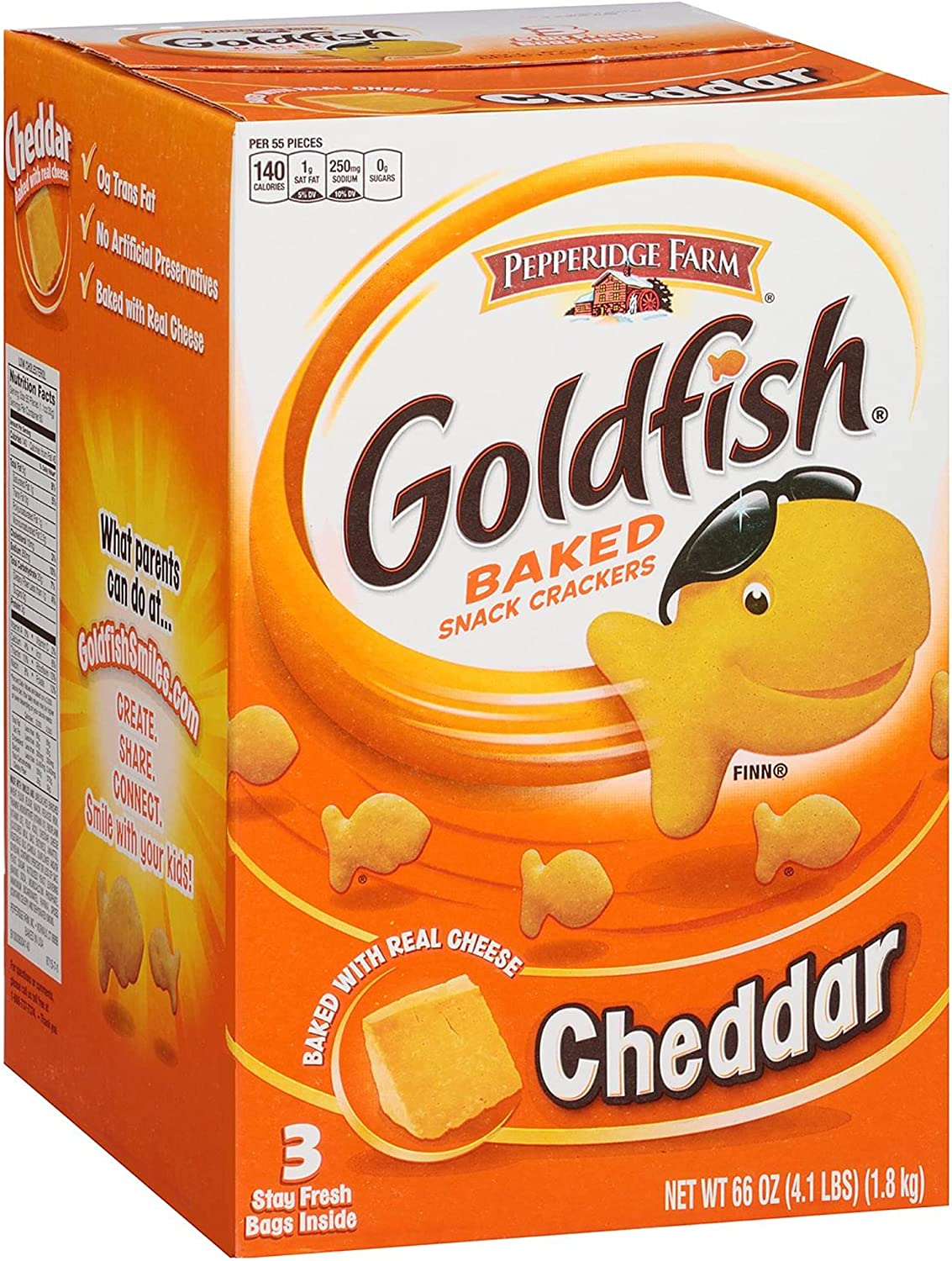 Pepperidge Farm Goldfish Crackers 22 Ct. 70% OFF Outlet 5 ☆ very popular 3 Wholesale Oz Chea