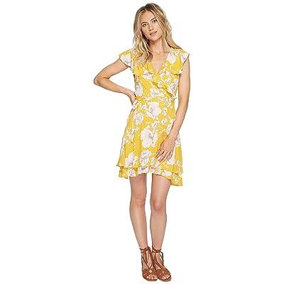 Free People French Quarter Printed Mini Dress (Yellow) Women