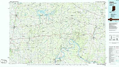 YellowMaps Jasper in topo map, 1:100000 Scale, 30 X 60 Minute, Historical, 1986, Updated 1986, 24.1 x 43 in