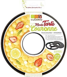 SCRAP COOKING Moule Anti-adhésif Tarte à Trou/Couronne, Acier au Carbone avec revêtement antiadhésif apte au Contact Alime...