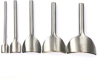 YaeTek 5 Sizes DIY Leather Craft Belt Strap Wallet Bag End Arc-Shaped Punch Cutter Tools (10mm, 20mm, 30mm, 40mm, 50mm)