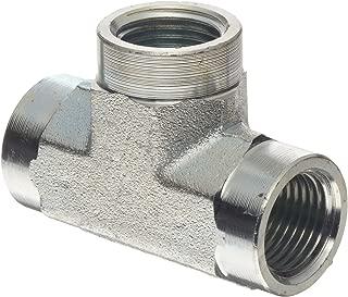 Dixon 5605-8 Zinc Plated Steel Hydraulic Pipe Fitting, Tee, 1/2
