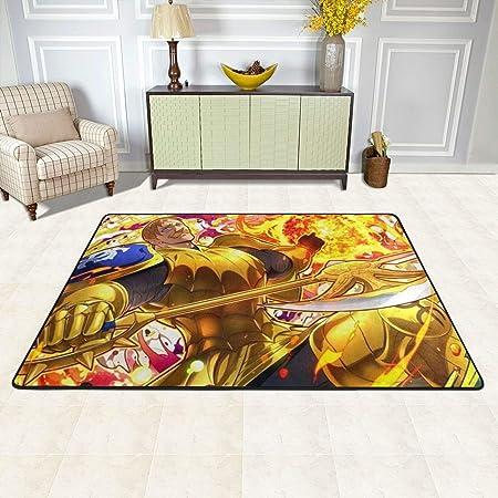 Angela R Mathews The Seven Deadly Sins Escanor Non Slip Carpet Area Rug Modern Flannel Microfiber Anime Cartoon Rectangle Carpet Decor Floor Rug Living Room Bedroom Study Floor Mat 3 X 2 Home Kitchen