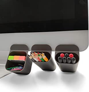 MINSA Creative DIY Screen Pen Pencil Holders Desktop Accessories Organizers for Office Desk Storage Bags Under Computer Mo...