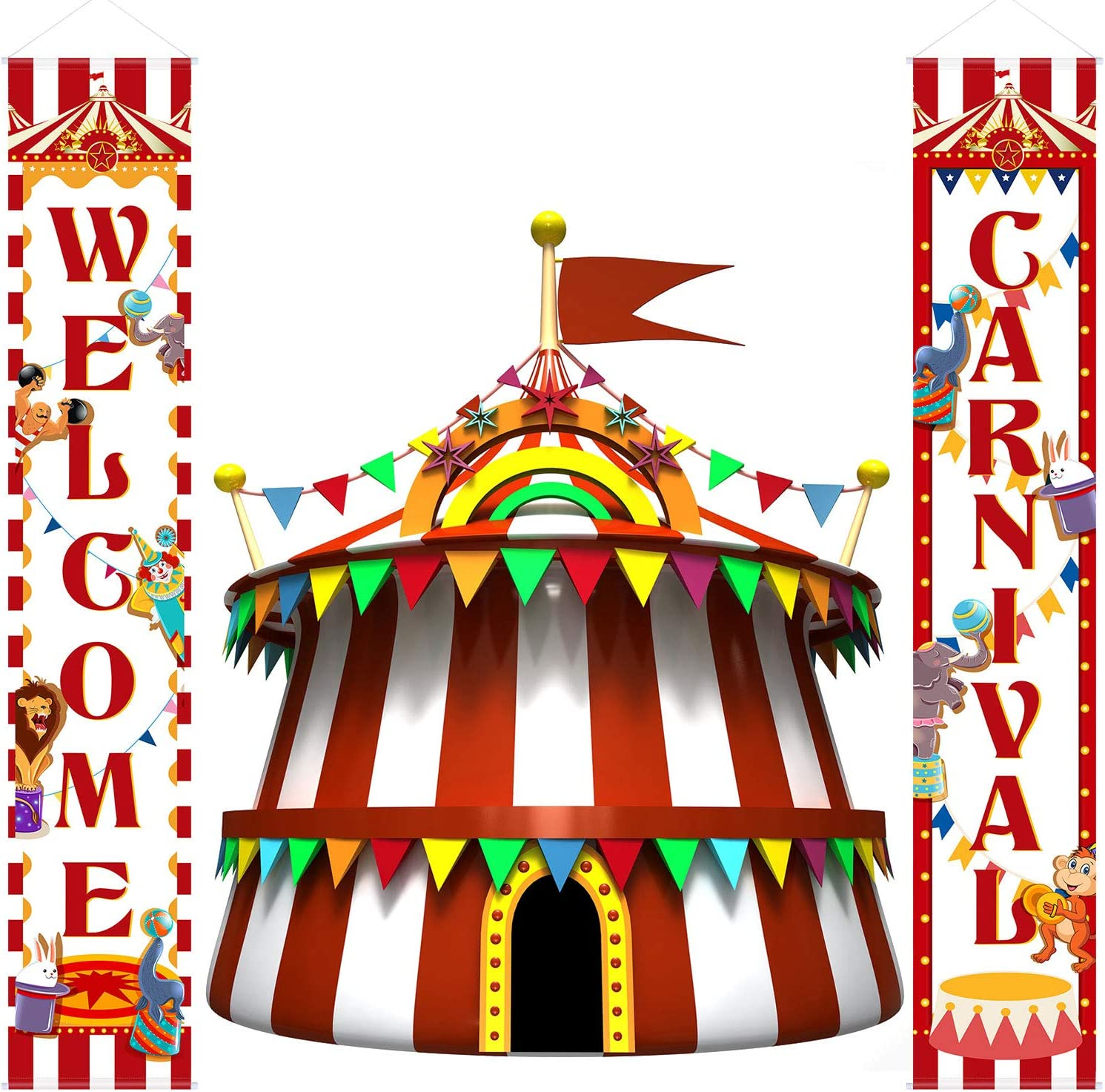 Carnival Decoration Porch Sign Carnival Circus Birthday Party We