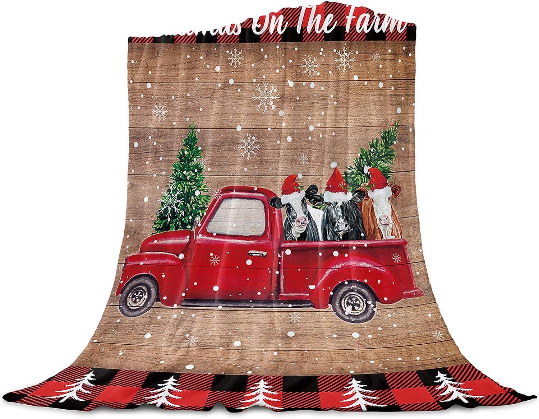 Christmas Flannel Throw OFFicial shop OFFer Blanket-Soft Plush Lightweight Fleece Bl