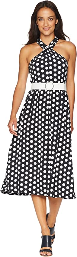 MICHAEL Michael Kors Dot Deluxe Halter Dress