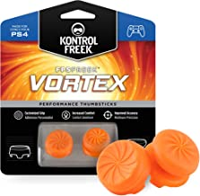 KontrolFreek FPS Freek Vortex for PlayStation 4 (PS4) Controller | Performance Thumbsticks | 1 High-Rise Convex, 1 Mid-Rise Concave | Orange