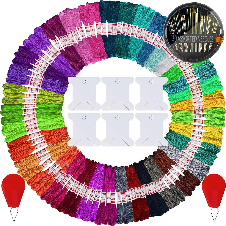 105 skeins Embroidery Floss- Friendship 2021 new - Thread Surprise price Brac