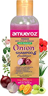 Amueroz Red Onion Shampoo for hair growth , Hair Fall Control & Anti Dandruff - for Women & Men - 200 ml