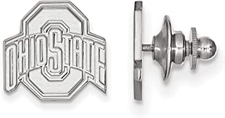 Ohio State University Buckeyes School Name Lapel Pin in Sterling Silver 15x15mm