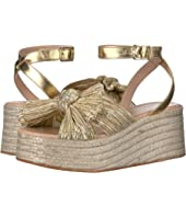 Posey Pleated Knot Flatform Espadrille