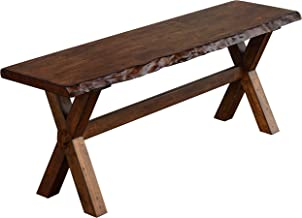 The Mezzanine Shoppe 26318BWN Mandeville Mid Century Wooden Dining Bench, 47.6