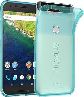 Cadorabo Funda para Huawei Nexus 6P en Transparente AZÚL – Cubierta Proteccíon de Silicona TPU Delgada e Flexible con Antichoque – Gel Case Cover Carcasa Ligera