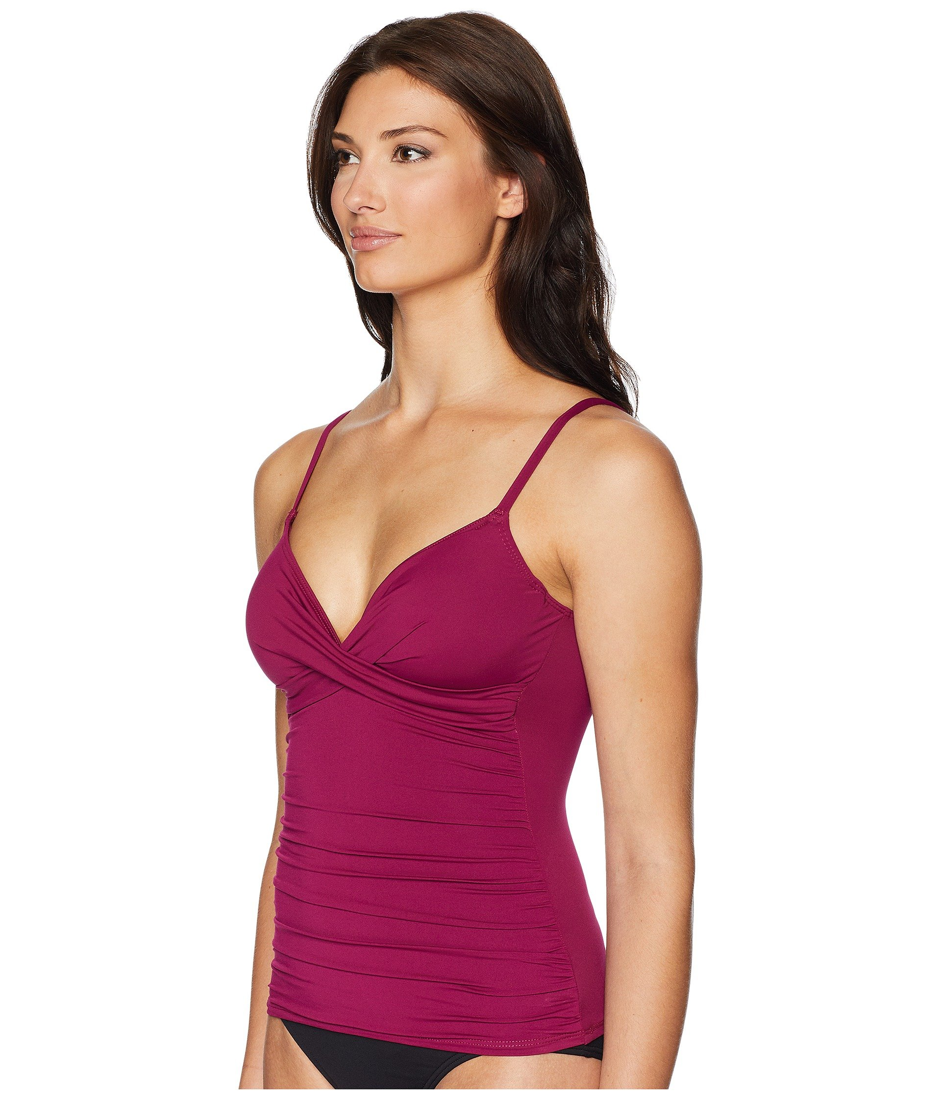 Ralph Lauren The Over Tankini Solids Club Shoulder Beach Plum Surplice Underwire fdwdqHpx