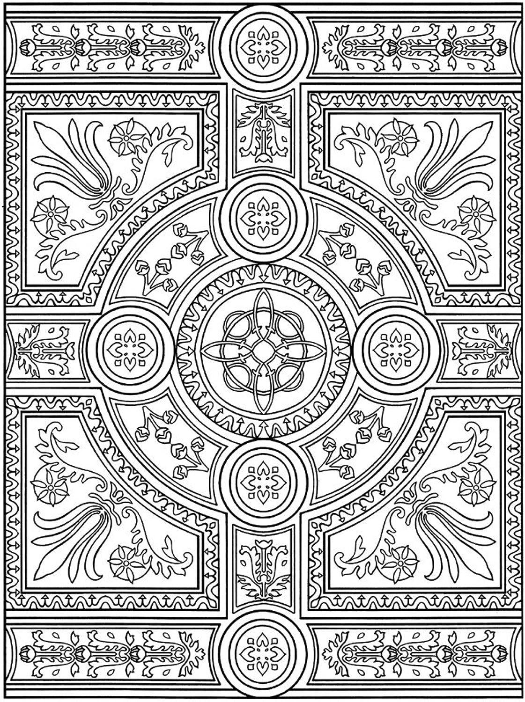Lebensfreudeladen Mandala Leinwandmalvorlage 121 90 x 120 cm B00G2AFB9C | Rabatt