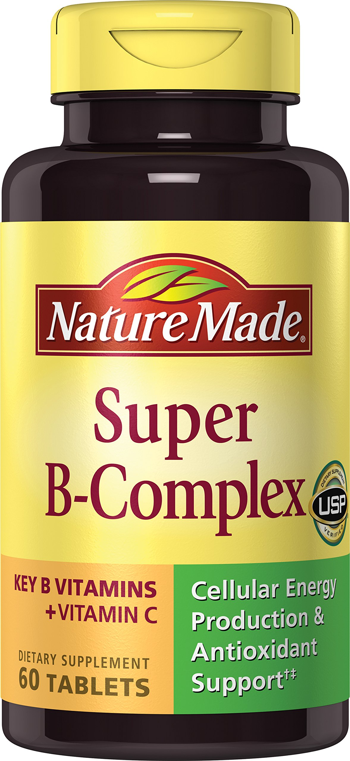 Nature Made Super B Complex Tablets, 3000 Mcg, 60 Count (Pack of 2)