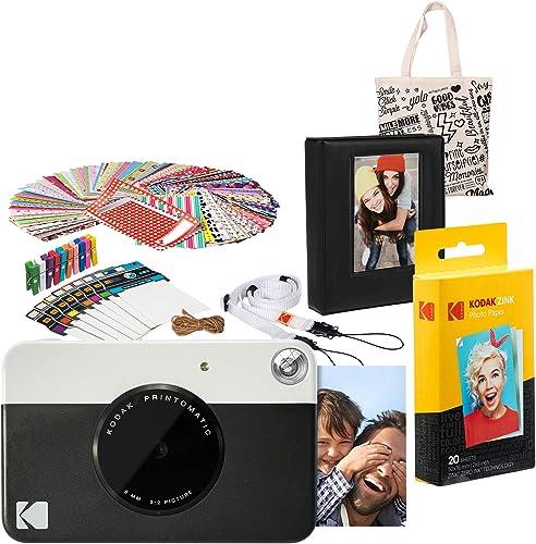 lowest Kodak discount PRINTOMATIC Instant Print Camera (Black) Gift Bundle with 2021 Photo Album online
