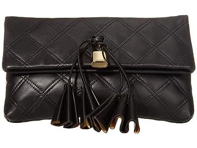 Marc Jacobs Sofia Loves The Leather Clutch (Black) Handbags