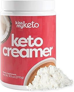 Kiss My Keto Creamer (Original, Unflavored) — Zero-Carb Keto Coffee Creamer + MCT Oil Powder C8 (9g) | Ketogenic Creamer f...