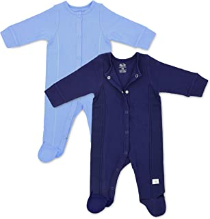 Baby 2-Pack Long-Sleeve Footed Grow & Fit Sleep and Play - Unisex, Girls, Boys