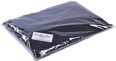 AIREE FAIREE Tapis de Bain Antidérapant Absorbant Tapis de Baignoire Microfibre de Chenille pour Salle de Bain 82 X 40 cms (Noir)