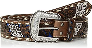 حزام Nocona Belt Co. للرجال من Nocona Buckstitch Edge من الورود