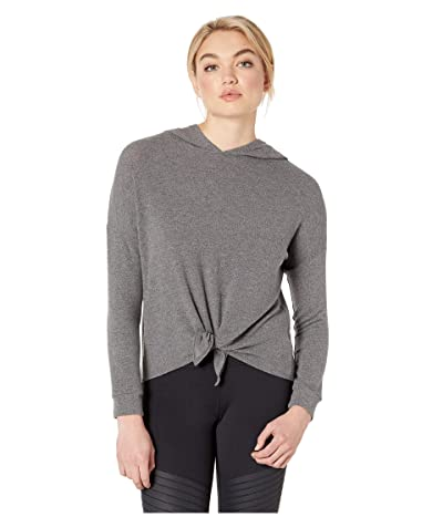 Beyond Yoga Brushed Up Tied Up Hoodie (Mid Heather Gray) Women