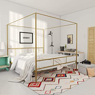 Novogratz Marion Canopy Bed Frame, Gold King