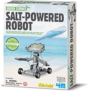 4M Green Science Salt Water Powered Robot Kit - Green Energy Robotics STEM Toys Educational Gift for Kids & Teens, Girls & Boys