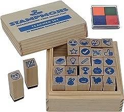 Teacher Gifts Set by Stampmojis (Teacher Emoji Stamps+Ink Pad) Great Gifts for Teacher Appreciation, Christmas, Stockings, Preschool, PreK, Kindergarten