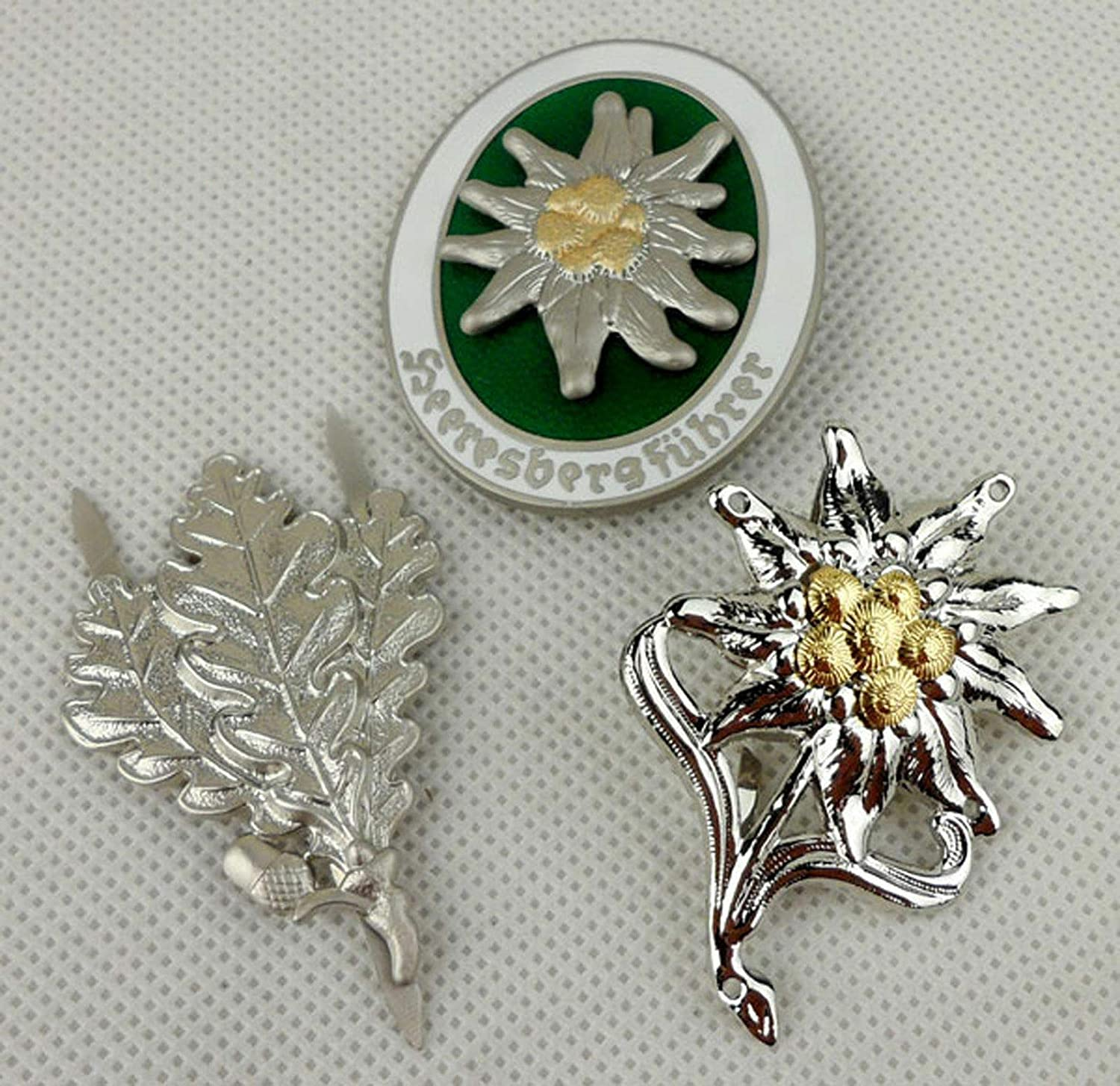 Max 74% OFF Full Set WWII German Sale Army Mountain Edelweiss Insi Badge Division
