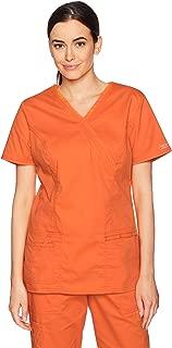 Cherokee Women's Workwear Core Stretch Mock Wrap Top