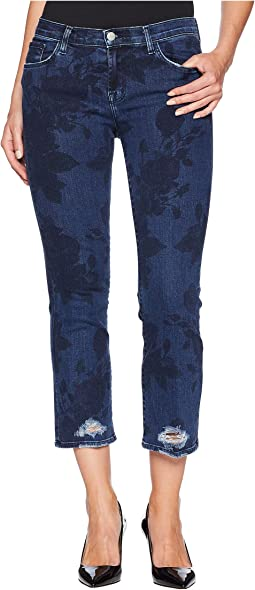 Selena Mid-Rise Crop Boot Cut Jeans in Cotillion